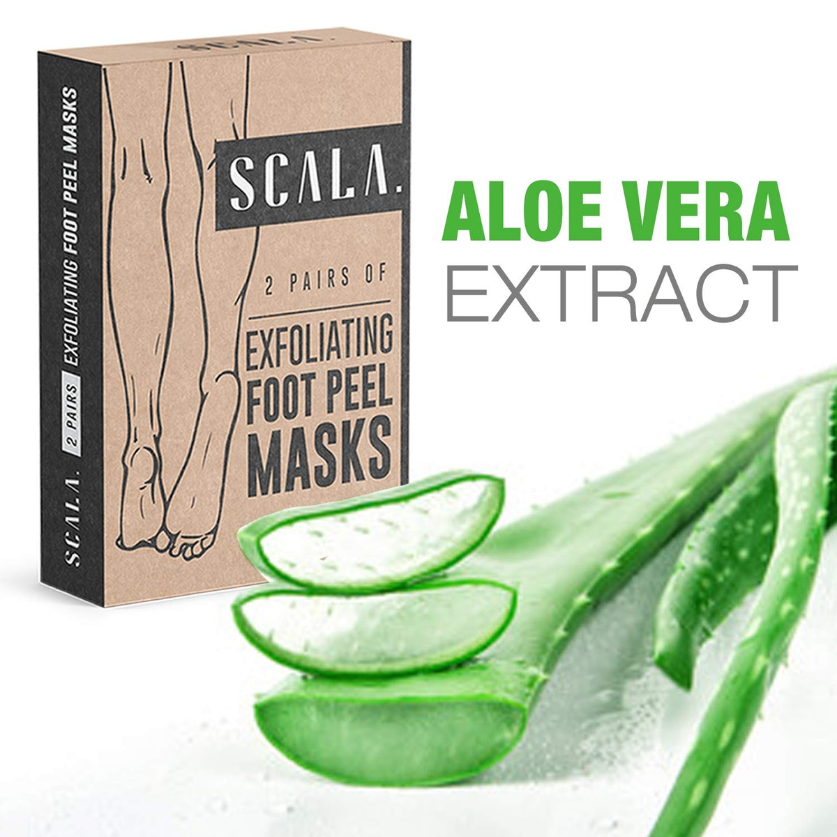 Scala Foot Peel Exfoliating Masks (2 Pairs)