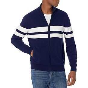 Amazon Essentials Men's Standard Cotton Full-zip Sweater