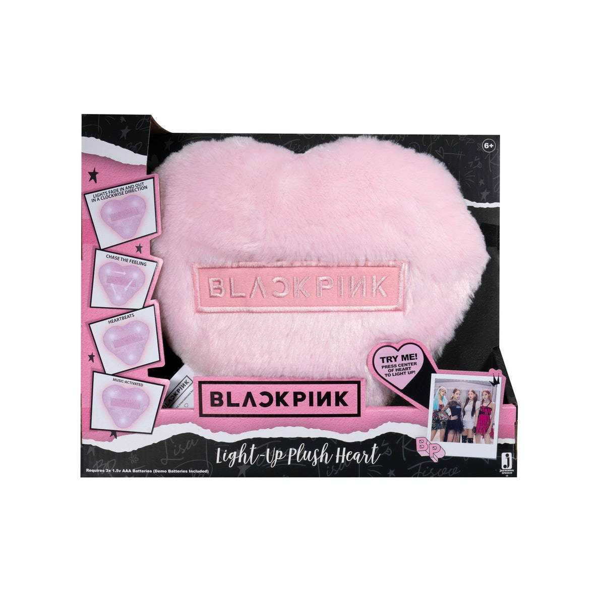 BLACKPINK Light-Up Plush Heart