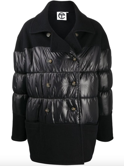 Unisex Padded Double-Breasted Coat