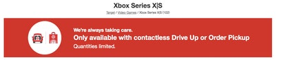 Target's Xbox Series X curbside rules