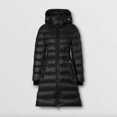 Detachable Hood Rib Knit Panel ECONYL® Puffer Coat