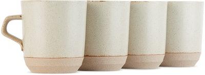 Beige Large Ceramic Lab CLK-151 Mug Set