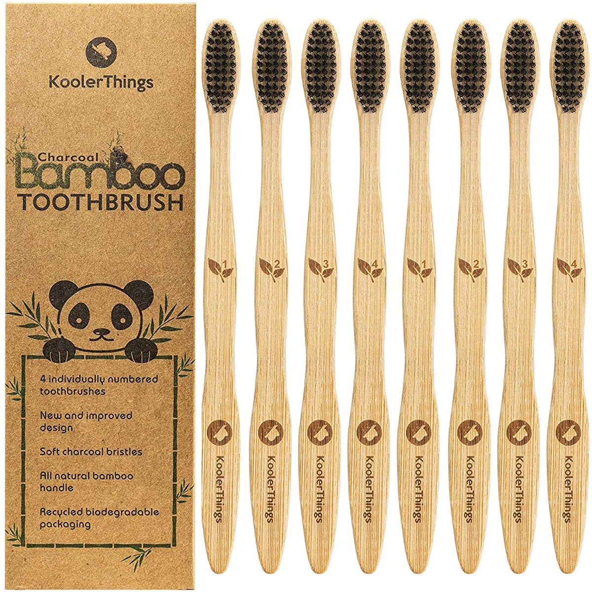 KoolerThings Charcoal Toothbrushes (8-Pack)