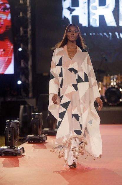 Naomi Campbell's eye makeup at Arise Fashion Week 2020 in Lagos.