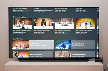 Apple Fitness+ review interface on Apple TV 4K