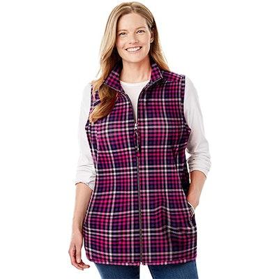 Woman Within Microfleece Vest