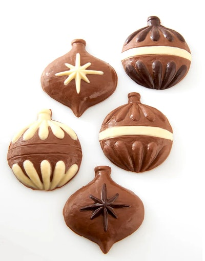 Set of 5 Chocolate Christmas Tree Ornaments
