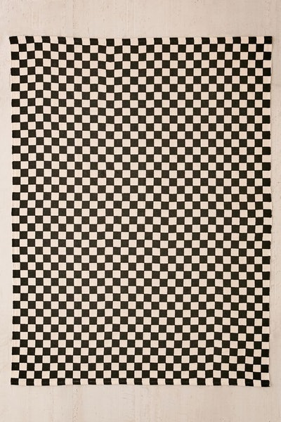 Checkerboard Printed Rug