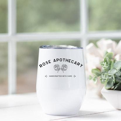 Rose Apothecary Wine Tumbler