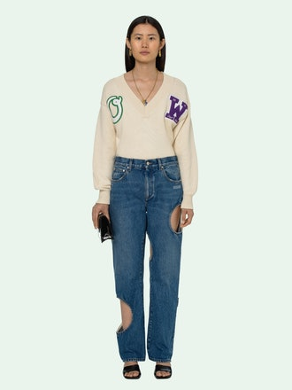 Cut-Out Baggy Jeans
