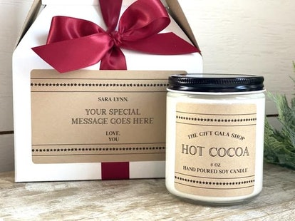 Hot Cocoa Candle Gift
