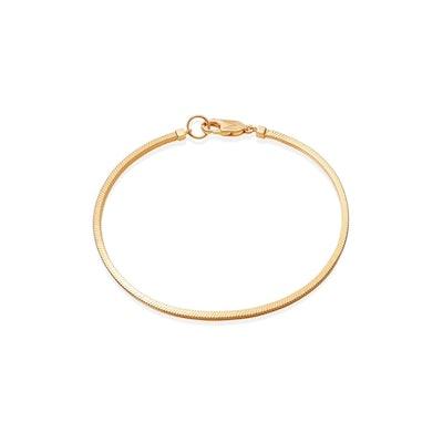 Men's Gold Square Snake Chain Bracelet