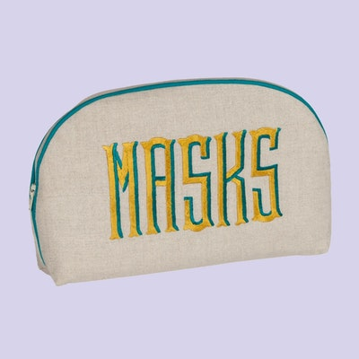 Embroidered Round Pouch