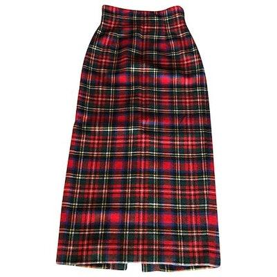 Vintage Wool Maxi Skirt Size 42 IT