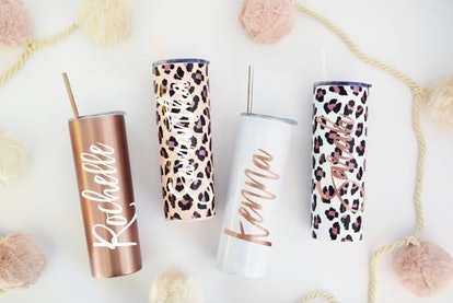 Tumbler With Lid and Straw Rose Gold