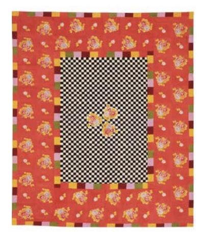 Big Check Cotton Tablecloth