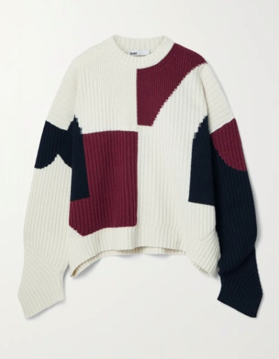 GMBH Mies Color-Block Ribbed Wool Sweater