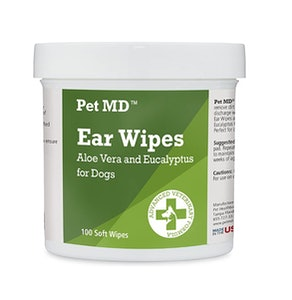 Pet MD Dog Ear Wipes (100 Count)