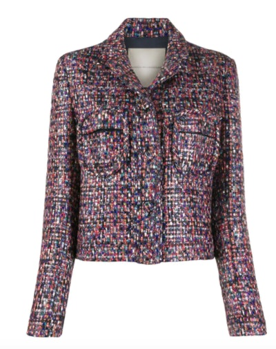 Marco De Vincenzo Chest Pocket Tweed Jacket