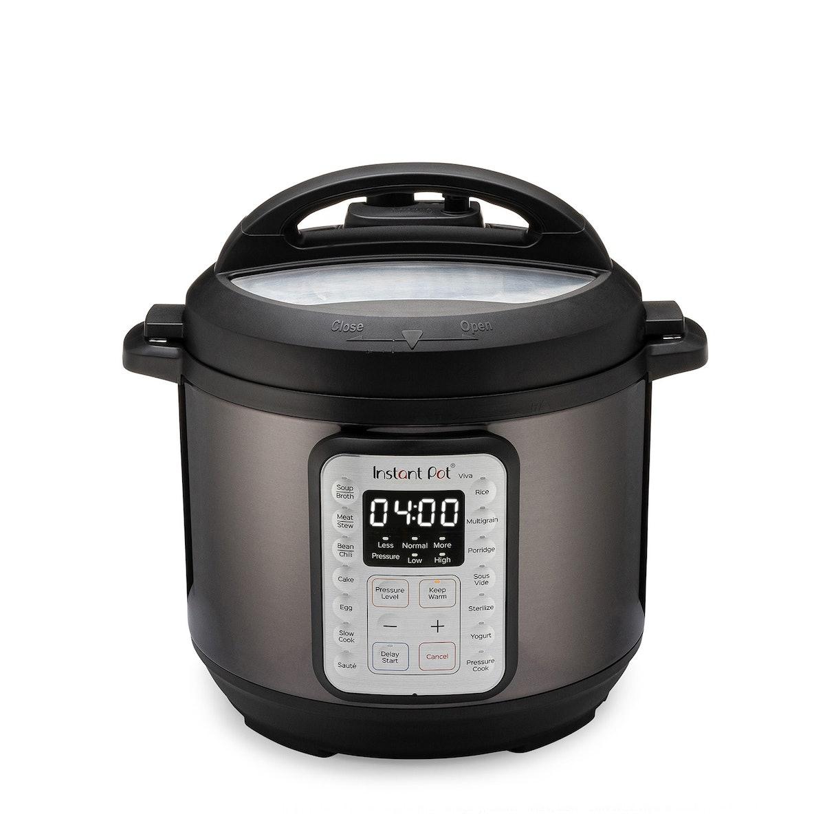 VIVA Black Stainless 6-Quart 9-in-1 Pressure Cooker