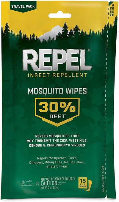Repel 94100 Insect Repellent Mosquito Wipes (15 Wipes)