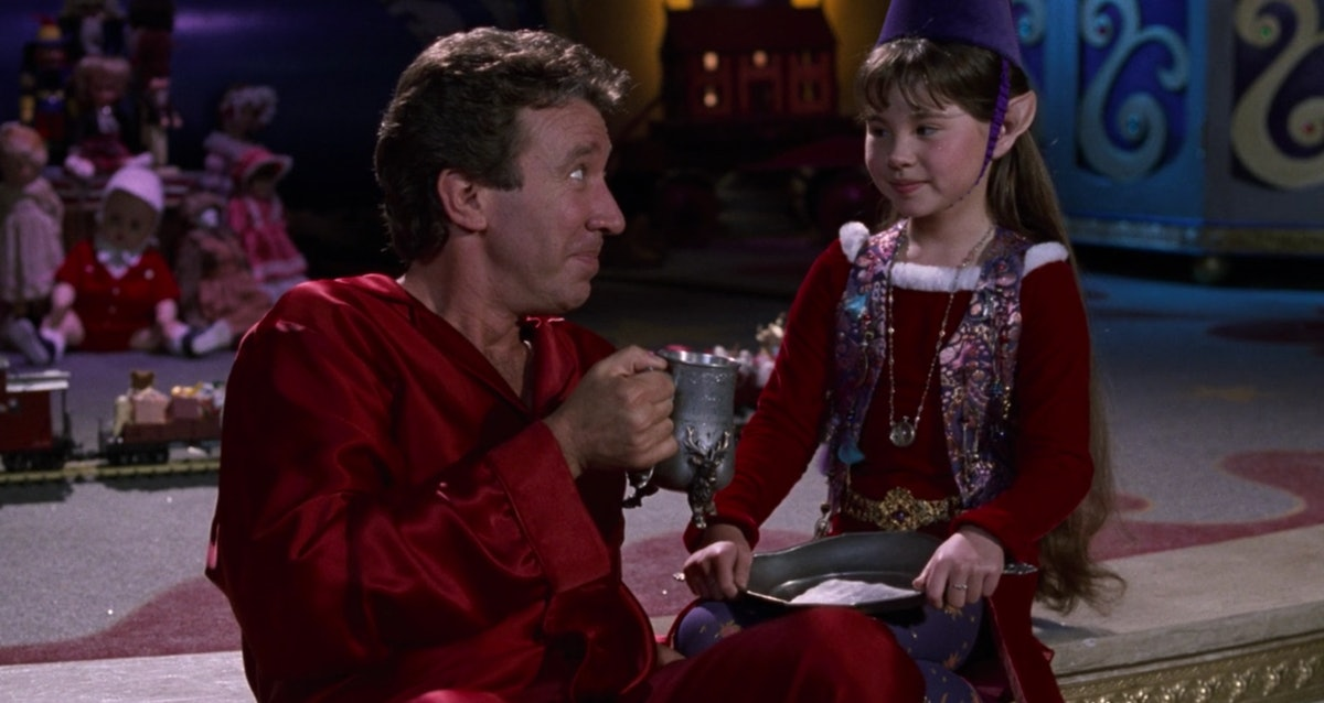 Scott Calvin (Tim Allen) drinks some hot cocoa made by Judy the Elf in 'The Santa Clause.'