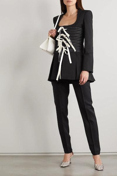 Maha Tie-Detailed Cotton-Twill Jacket