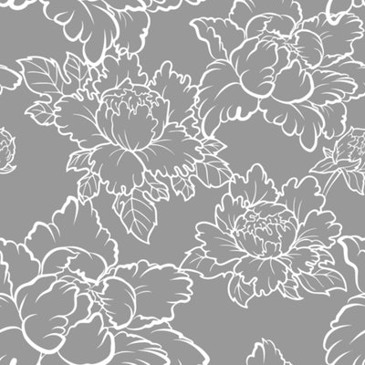 Peony - Grey Wallpaper - Bohemian Bungalow Collection