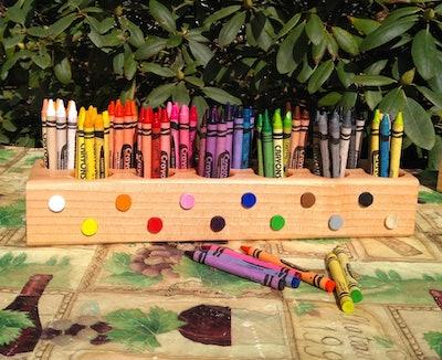 Mini Crayon Desk Organizer
