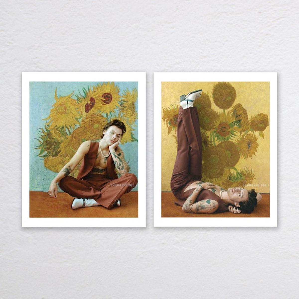 Harry Styles Sunflower Print / Poster