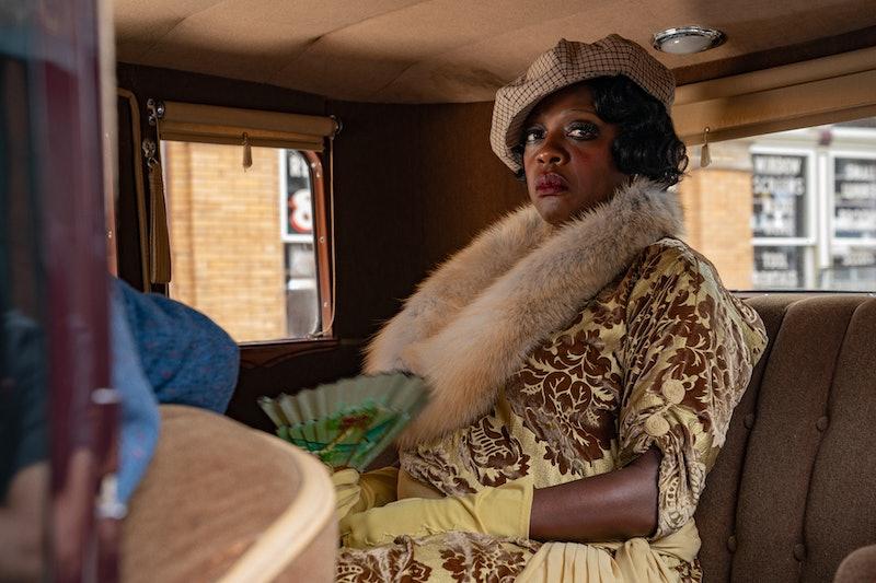 Viola Davis as Ma Rainey in 'Ma Rainey's Black Bottom,' via the Netflix press site.