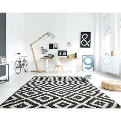 Dagenham Washable Moroccan Monochrome Dark Gray/Beige Area Rug - 8' x 10'