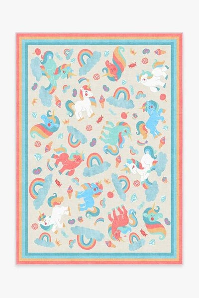 Unicorn Jamboree Multicolor Rug - 5' x 7'