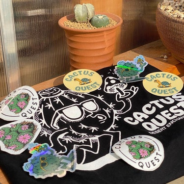 Cactus Quest merch.