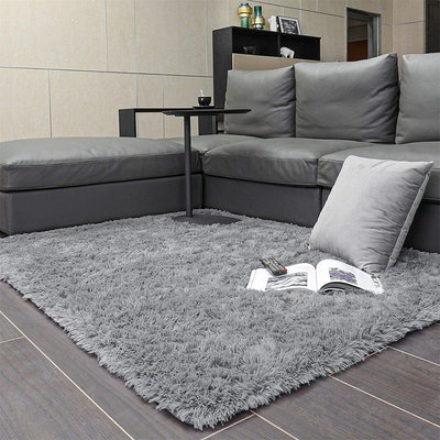 Ophanie Machine Washable Area Rugs for Living Room - in Senior Gray 4' x 5.3'