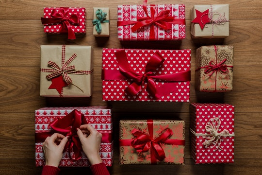 grid of holiday wrapped presents