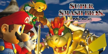 A promotional photo for 'Super Smash Bros. Melee'