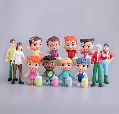12PCS Cocomelon Doll Toys Set