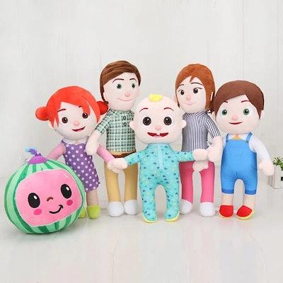 CoComelon Plush Family (All 6 Dolls)
