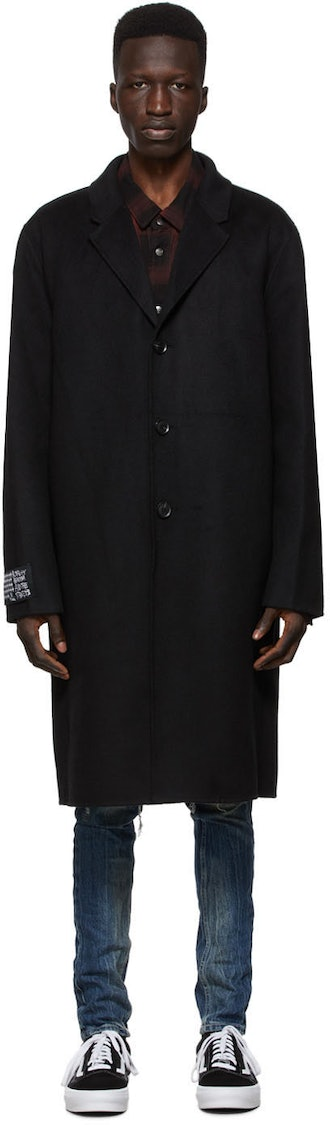 Ksubi Black Wool Mogul Coat