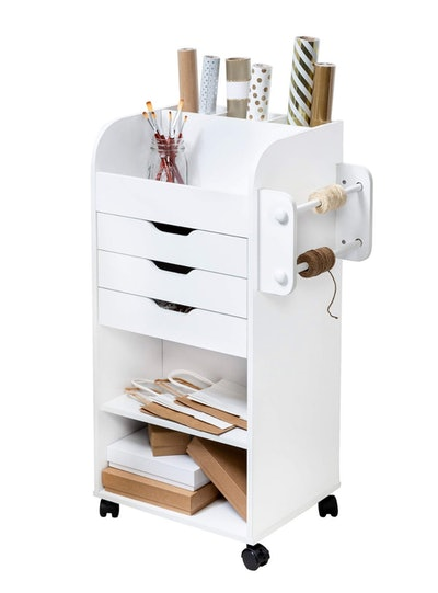 Rolling Craft Storage Cart with 3-Drawers
