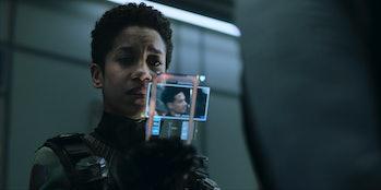 Dominique Tipper as Naomi Nagata in 'The Expanse' Season 5.