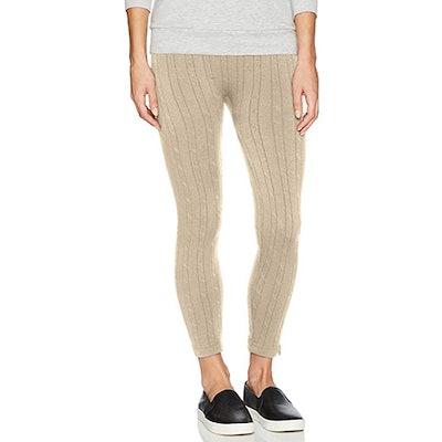 MUK LUKS Cable Knit Fleece Lined Leggings