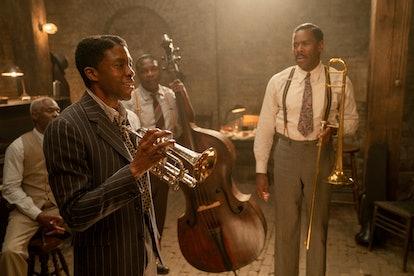 Chadwick Boseman as Levee in 'Ma Rainey's Black Bottom,' via the Netflix press site.