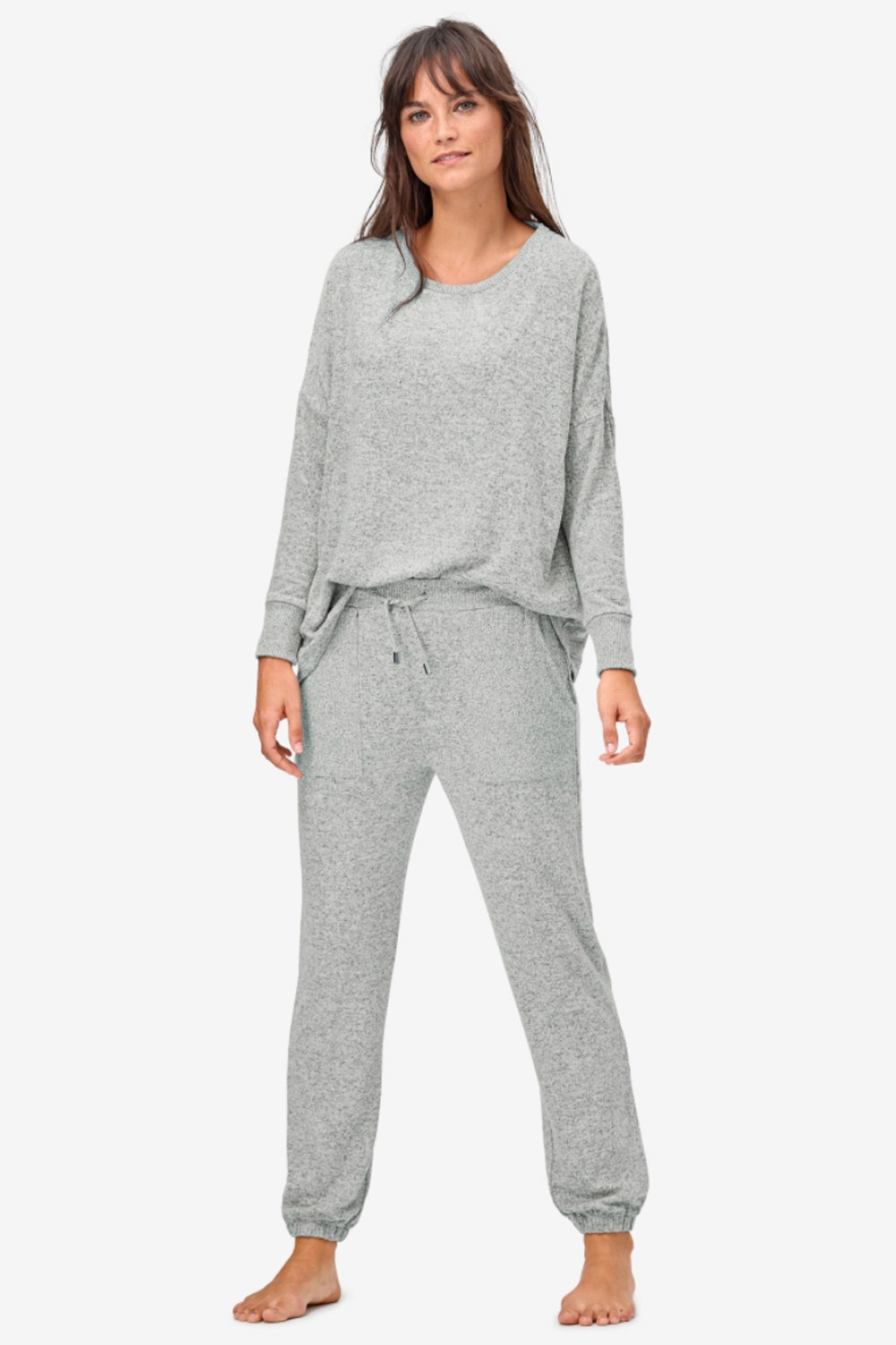 Marled Knit Jogger Pants