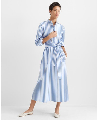 Half-Placket Tunic Dress