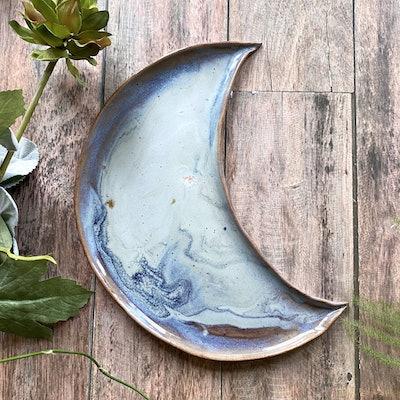Stoneware Moon Platter