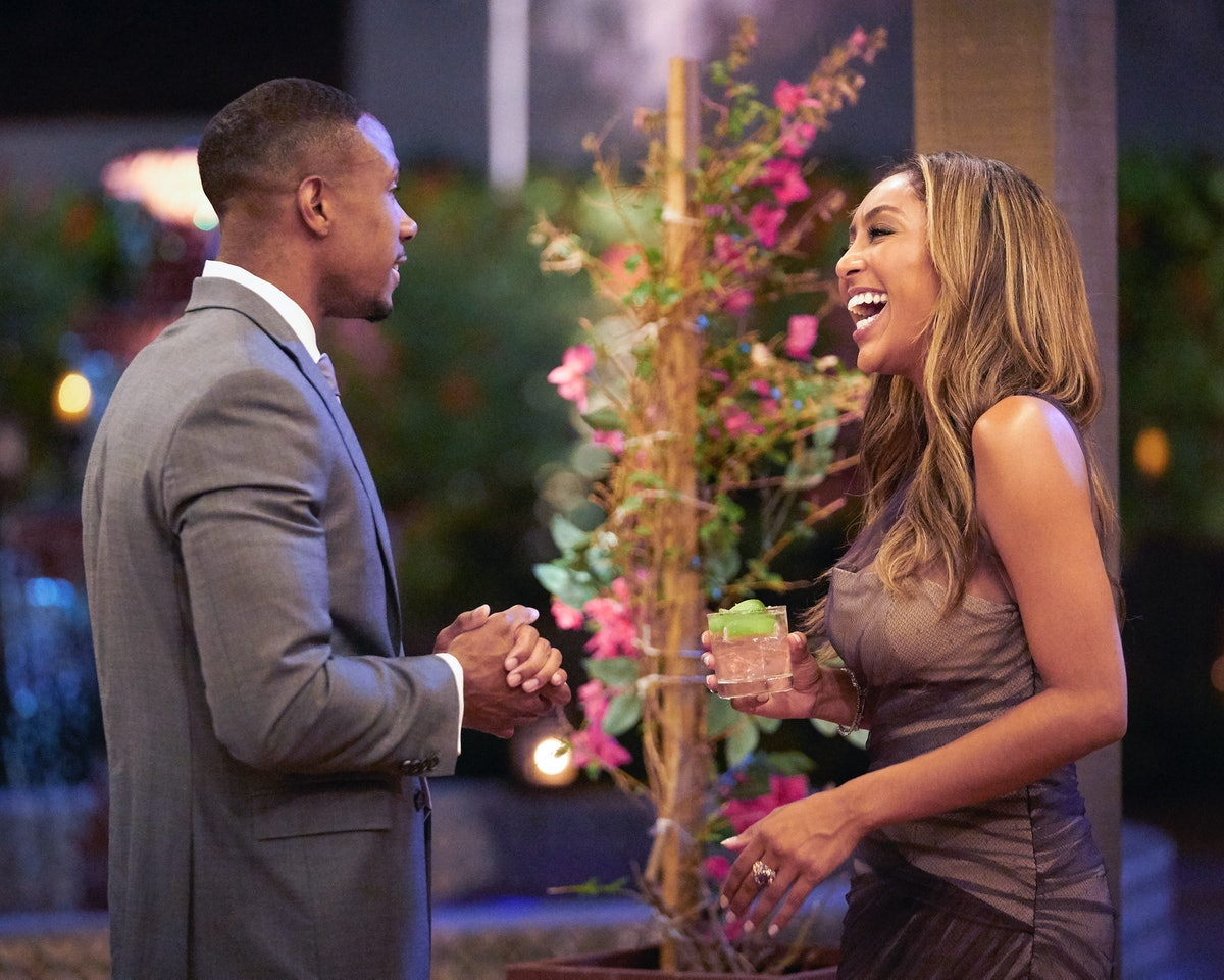 Tayshia and Riley on The Bachelorette.