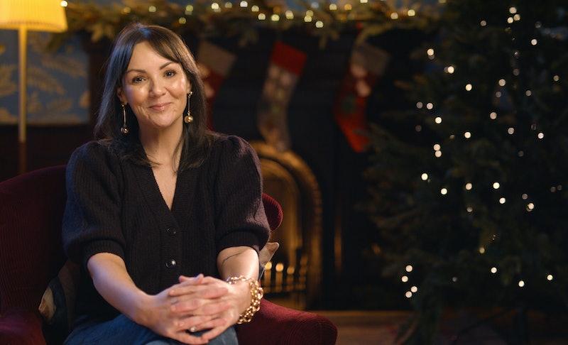 Martine McCutcheon hosting the 'Love Actually' virtual Christmas quiz.